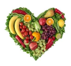 heart fruit veggie