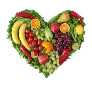 heart fruit veggie